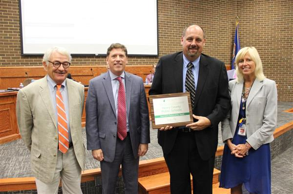 Henry County Public Schools Receives Cenergistic Chairman's Sustainability Award for Outstanding Cost Savings and Achievement in Energy Conservation Program