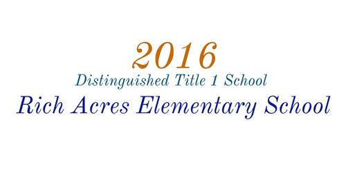 RAE 2016 Distinguished Title 1 School