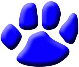 clipart of a blue tiger paw