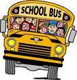 Clipart of a school bus with smiling children