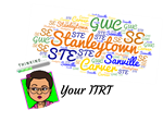 "Bitmoji face surrounded by the words ""your ITRT, Stanleytown, GWC, Sanville, Carver, SE, STE"""