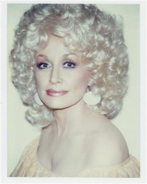 Polaroid of Dolly Parton by Andy Warhol, 1985