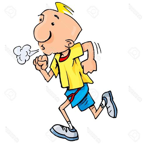 clipart of a male runner