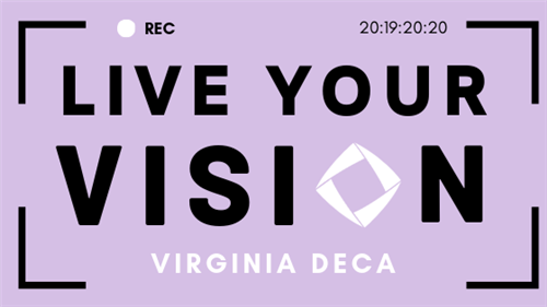"Virginia DECA Theme Logo ""Live Your Vision"""