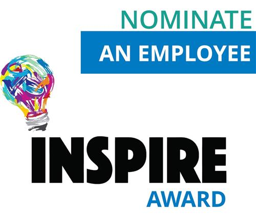 nominate an employee inspire award logo