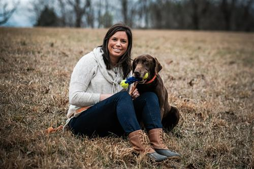 Jennifer Yeaman and her dog