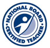 National Board Certified Teacher emblem to show received certification