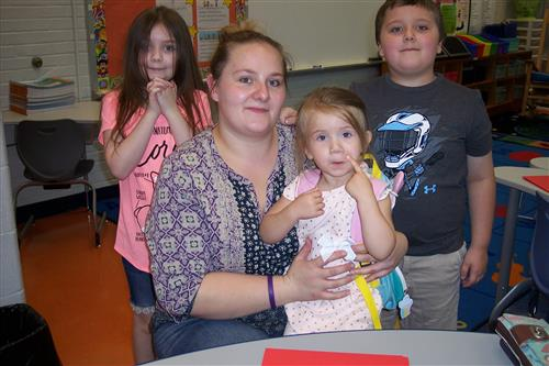 Parents and Children at Open House