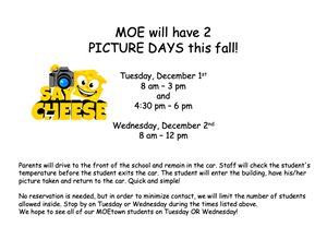School Picture Day Information - English